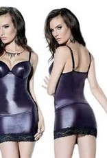 Coquette International Coquette D9292 Wetlook Tank Top Purple