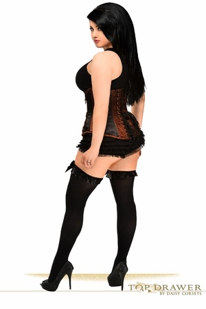 Daisy Corsets Daisy Corset TD-041X Black Brown Steel Boned Underbust