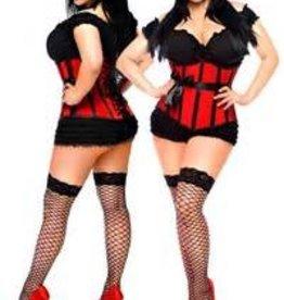Daisy Corsets Daisy corset Red satin waist cincher