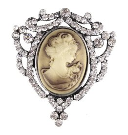 Western Fashion Vintage Cameo Pin Gold