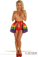Daisy Corsets Daisy Rainbow Layered Ruffle Skirt