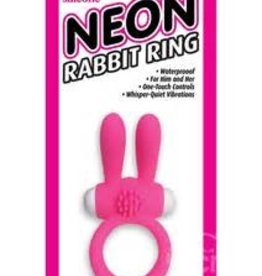 Pipedream Neon Rabbit Ring Pink