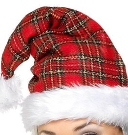 Smiffy's Tertan Santa Hat With Fur Trim
