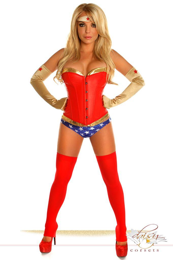 Daisy Corsets 4 Piece Sexy Superhero Costume