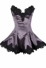 Daisy Corsets Daisy Satin Beaded & Lace Corset Dress