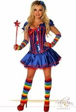 Daisy Corsets Daisy 2002 6 Piece Sexy Rainbow Girl Costume