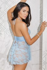 Coquette International Coquette 4088 Babydoll & Thong Blue OS