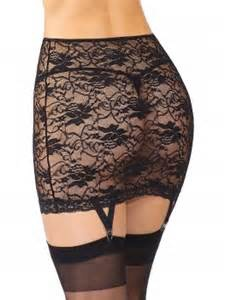 Coquette International Coquette lace garter skirt