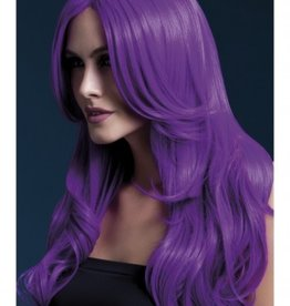 Smiffy's Fever Wig Collection 42548 Khloe Neon Purple