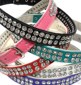 Kookie International Two Row Rhinestone Collar