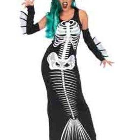 Leg Avenue 3 Pc Skeleton Siren,tank dress,fin arm warmers, and head piece<br /> SM/MD
