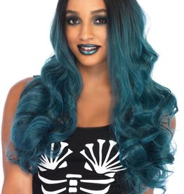 Leg Avenue Blended two tone long wavy wig teal