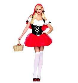 Leg Avenue Racy Red Riding Hood tutu peasant dress with hooded cape