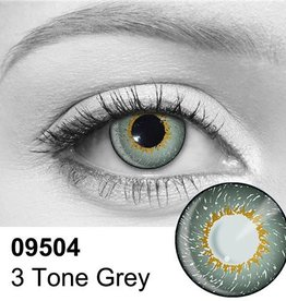 Loox 3 tone grey cosmetic contact lenses