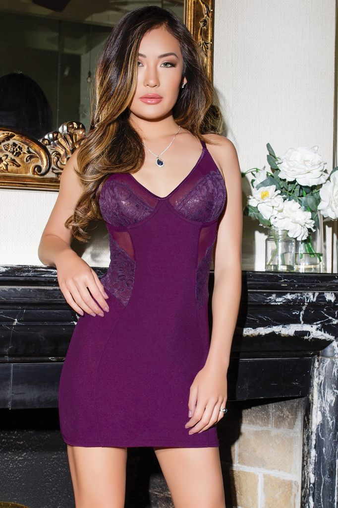 Coquette International Plum Chemise