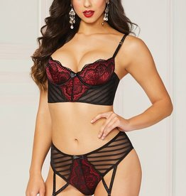 Seven Til Midnight Stripe a Pose Bra Set