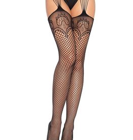 Leg Avenue Industrial Net With Duchess Lace Top