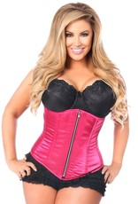 Daisy Corsets Top Drawer Fuchsia Satin Underbust Steel Boned Corset