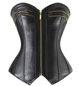 Adult Temptations Faux Leather Corset Zipper detail