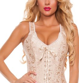 Adult Temptations Brocade Corset Shoulder Straps Side Zipper