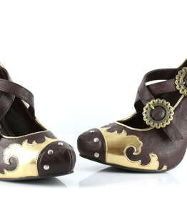 "Ellie Shoes 420-Steel 4"" Heel Steampunk Shoes"