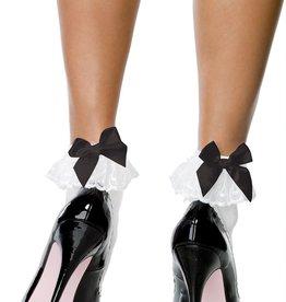 Leg Avenue Leg Ave 3029 Anklet with Ruffle wht/blk
