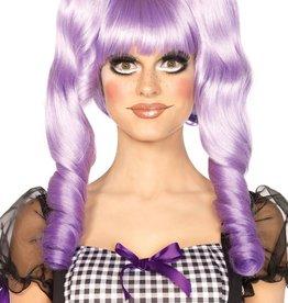 Leg Avenue Leg Ave A2732 Dolly Bob Wig W Optional Ringlet Clips Lavender