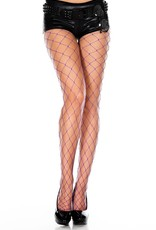 Music Legs Big Diamond Net Hose Purple