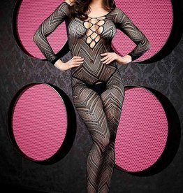 VIP VIP Long Sleeve Crotchless Bodystocking