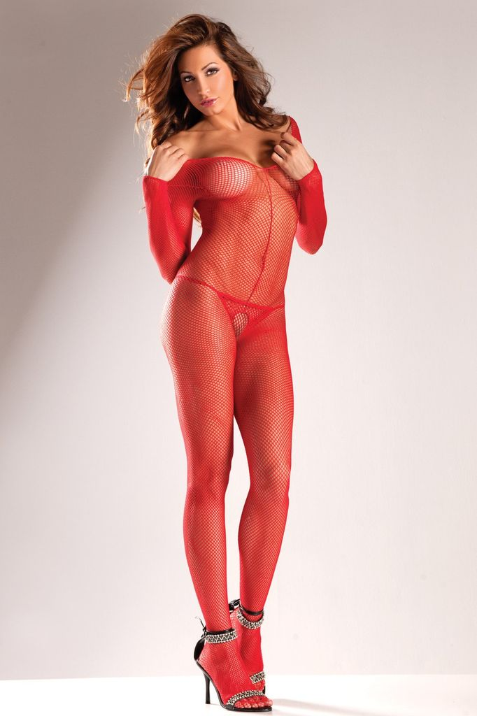 Be Wicked Long Sleeve Fishnet Bodystocking