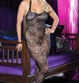 Shirley Of Hollywood Lace Body Stocking