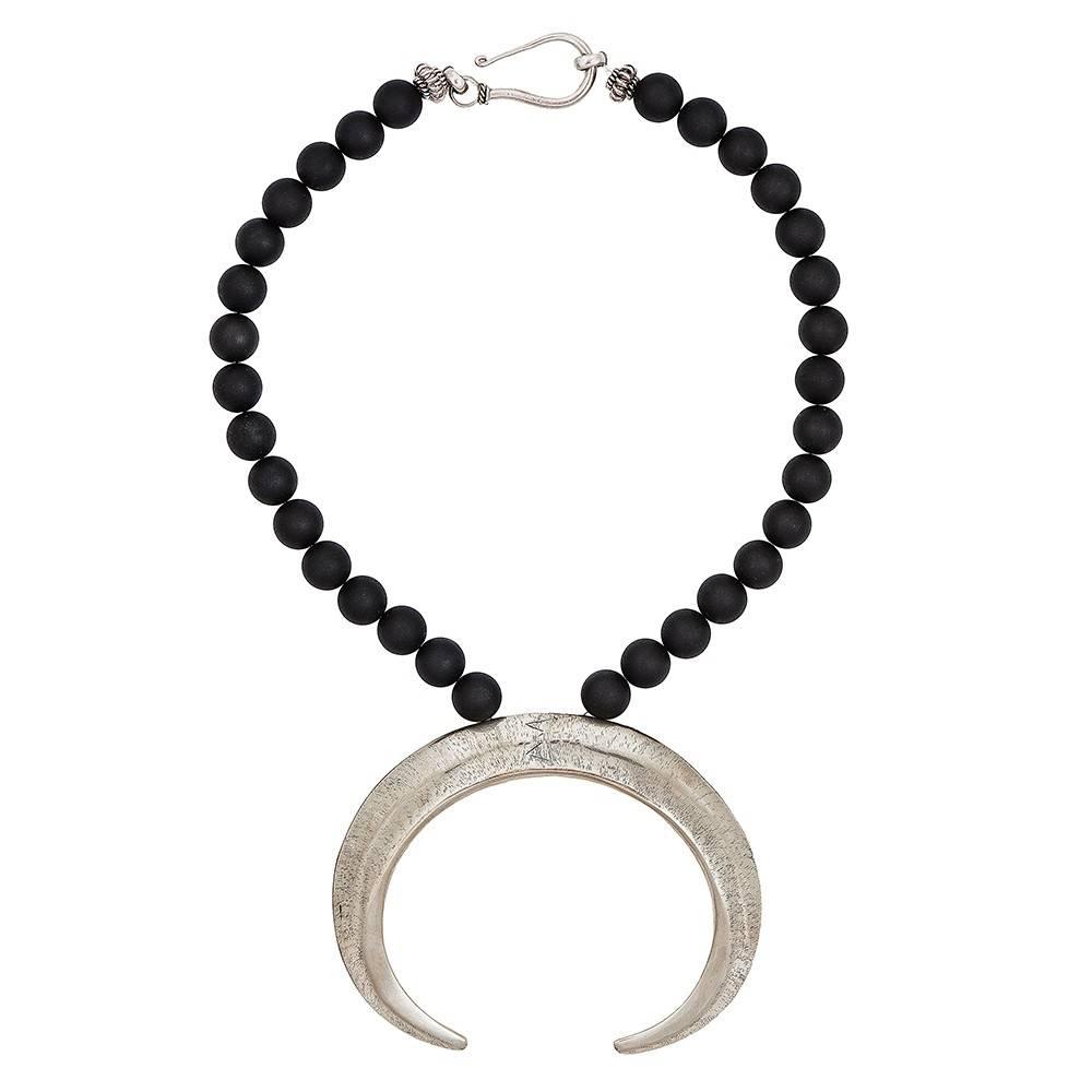 Boars Tusk Pendant Necklace (Large) Shiny