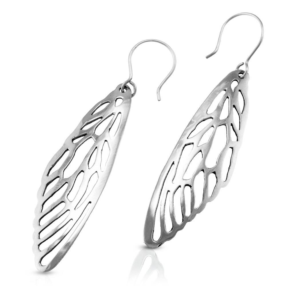 Cicada Wing Earrings - Alpaca