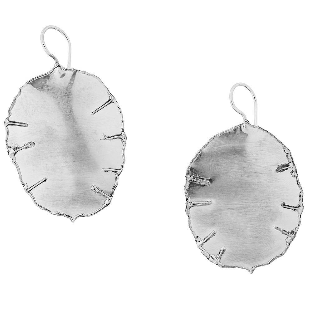 Lunaria Seed Pod Earrings - Alpaca