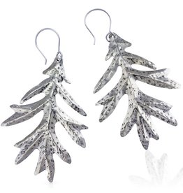 Oak Leaf Earrings - Alpaca