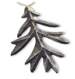 Oak Leaf Ornament - Alpaca (Oxidized)