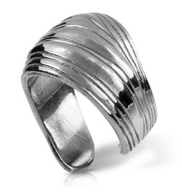 Palm Frond Ring - Alpaca (Large)