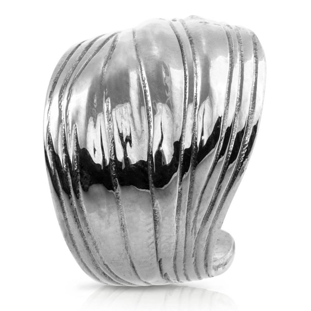 Palm Frond Ring - Alpaca (Large)