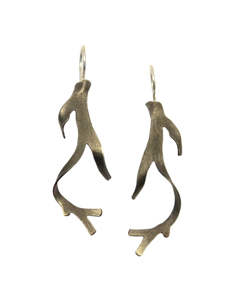 Seaweed Earrings (Oxidized)