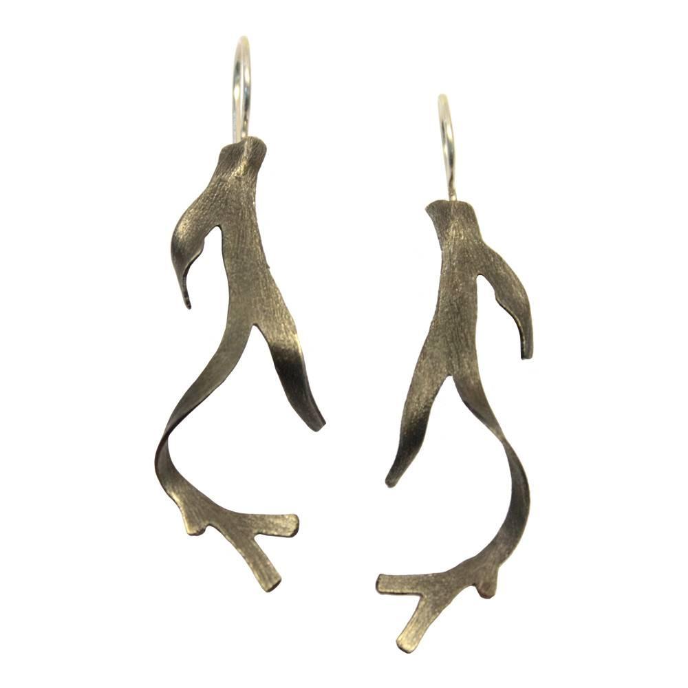 Seaweed Earrings (Oxidized)