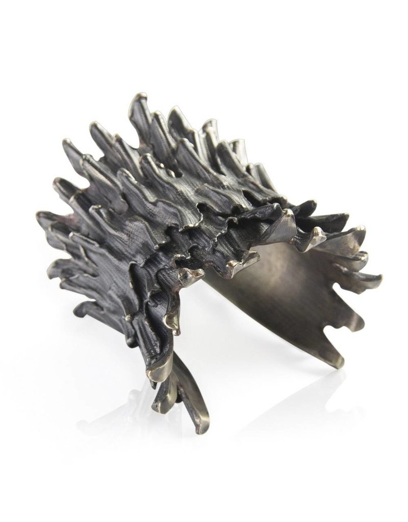Spiny Murex Conch Double Cuff (Oxidized)