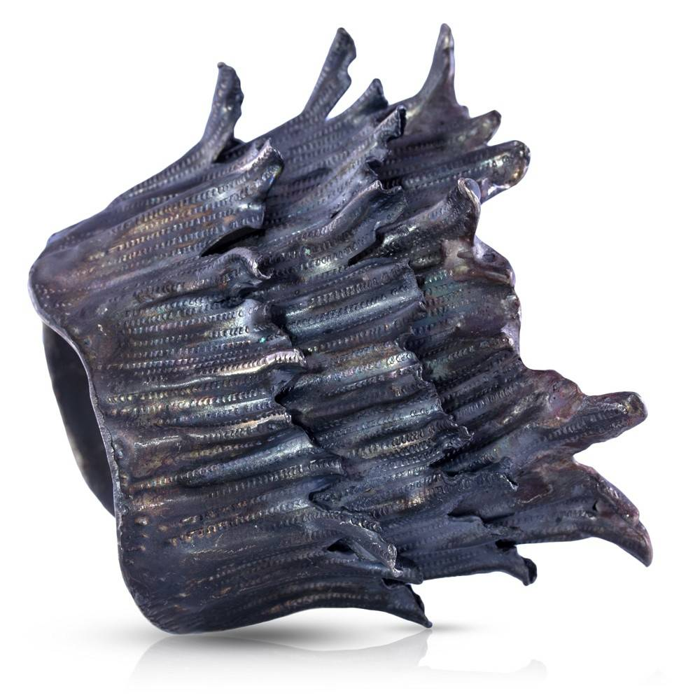 Spiny Murex Conch Cuff - Alpaca - Oxidized