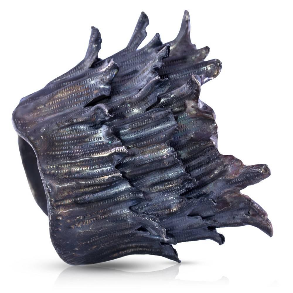 Spiny Murex Conch Cuff (Oxidized)