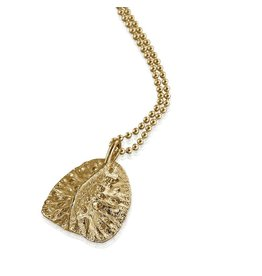 Alligator Scute Pendant - 14K Gold (Large)