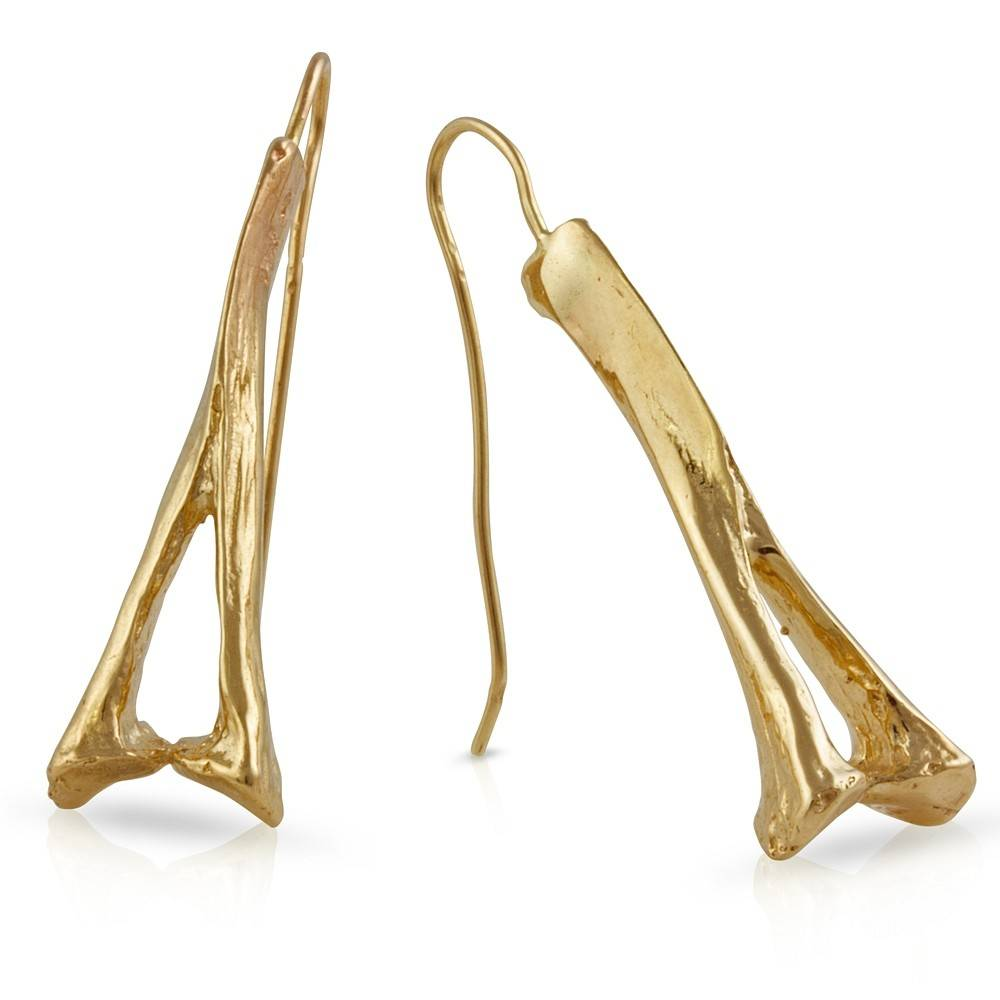 Alligator Spinous Process Earrings - 14K Gold