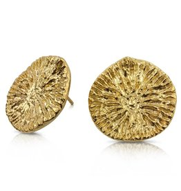 Dolphin Disc Earrings - 14K Gold