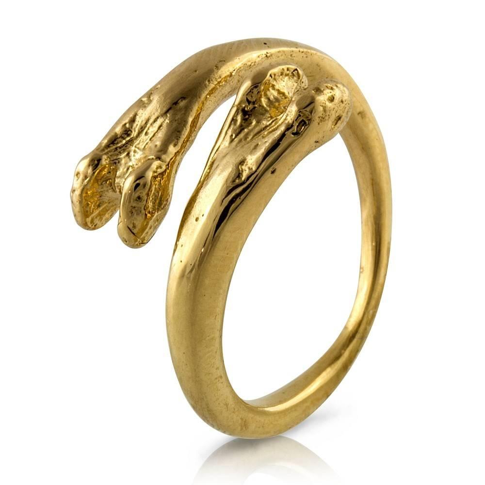 Raccoon Pecker Ring - 14K Gold