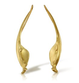 Rattlesnake Jawbone Earrings - 14K Gold