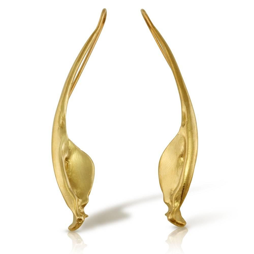 Rattlesnake Jawbone Earrings - 14K Gold