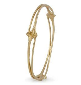 Rattlesnake Rib Bangle - 14K Gold